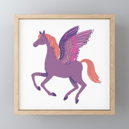 Purple Pegasus Framed Mini Art Print