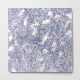 warped purple Metal Print