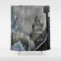 moscow Shower Curtains featuring Moscow Reflected by Brandon Beacon Hill