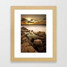 Rocky Sunset Framed Art Print