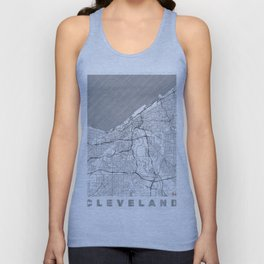 Cleveland Map Line Unisex Tank Top