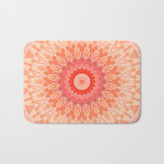 Mandala soft orange Bath Mat