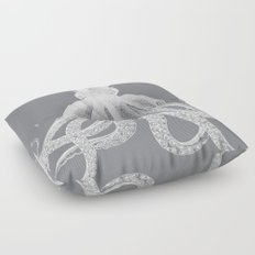 Octopus | Grey and White Floor Pillow