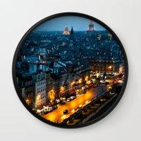 paris Wall Clocks featuring Paris by Luca Spanu