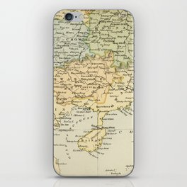 Vintage Map of The South Of China iPhone Skin