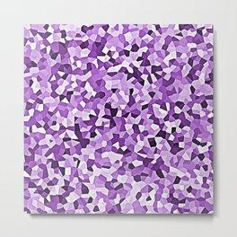 Purple Mosaic Abstract Pattern Metal Print