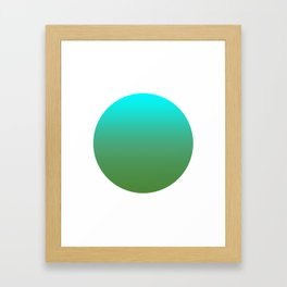 Avocado Round Framed Art Print