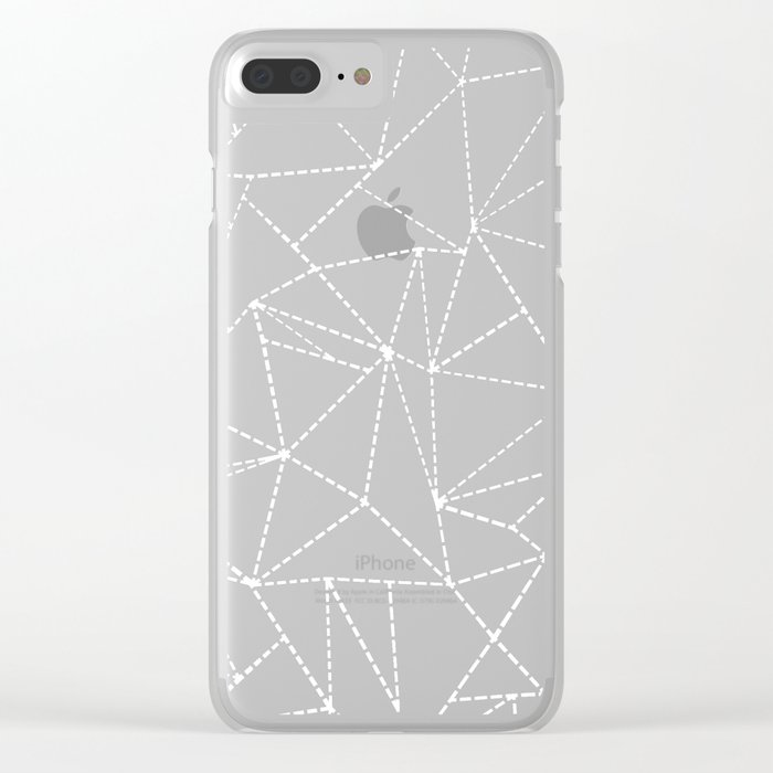 Ab Dotted Lines Clear iPhone Case
