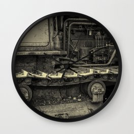 Tracks of the Warped Earth Mover Wall Clock