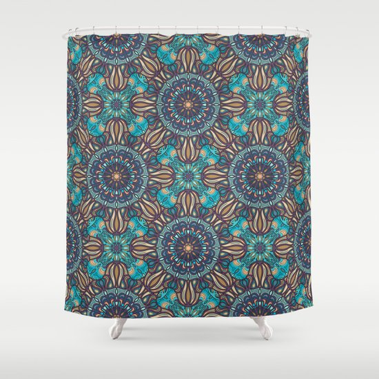 Colorful Abstract Ethnic Floral Mandala Pattern Design