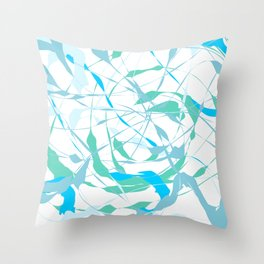 Anxiety Calmness Abstract Throw Pillow