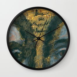 Bear One Another's Burdens Wall Clock