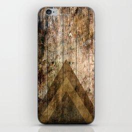 Wood and Triangles iPhone Skin
