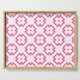 Abstract Pink Daisies Serving Tray