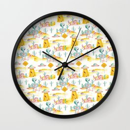 area 51 pattern Wall Clock