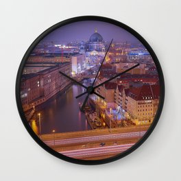 The Roofs Of Berlin Wall Clock