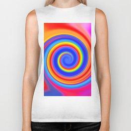 Abstract Color Swirl / Spiral Biker Tank