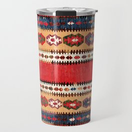 Obruk  Antique Konya Turkish Kilim Print Travel Mug