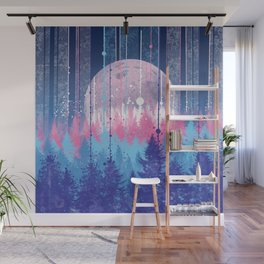 Rainy forest Wall Mural