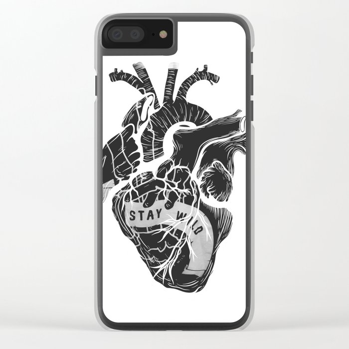 Heart (stay wild) Clear iPhone Case