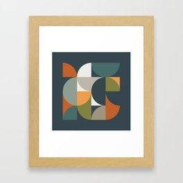 Mid Century Geometric 12/2 Framed Art Print