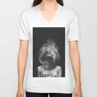 wind V-neck T-shirts featuring Wind by Illustratic