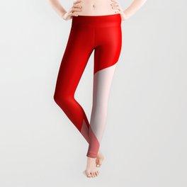 Trinity Color Block Red EE0000 Leggings
