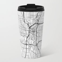 San Antonio Map White Travel Mug