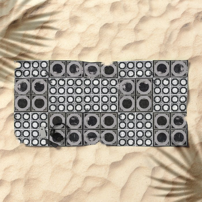 Beyond Zero in black and white Beach Towel