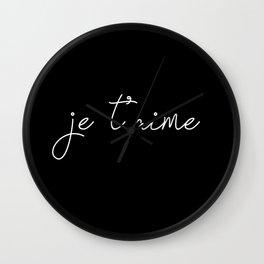 je t'aime - i love you Wall Clock