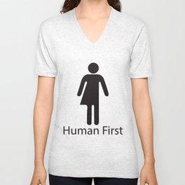 Human First Unisex V-Neck