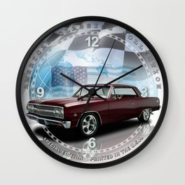 1965 Chevrolet Chevelle SS Decorative Wall Clock (012ac) Wall Clock