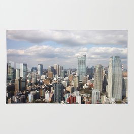 The Tokyo Skyline from Tokyo Tower Rug