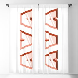 """AVA"" first name red pattern Blackout Curtain"