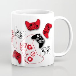 Video Game White and Red Coffee Mug