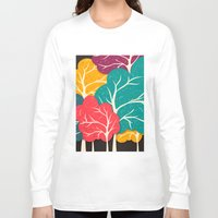 jazzberry Long Sleeve T-shirts featuring Happy Forest by Danny Ivan
