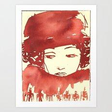 Lady-2 Art Print