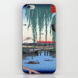Utagawa Hiroshige Yatsumi Bridge iPhone Skin