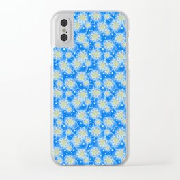 Inspirational Glitter & Bubble pattern Clear iPhone Case