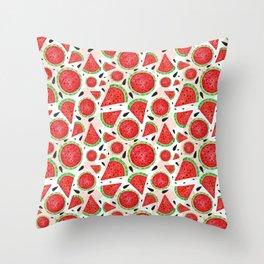 seet watermelon Throw Pillow