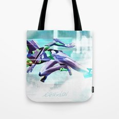 Evangelion Unit 01 - Shinji Ikari's Ride. The Digital Painting. Tote Bag
