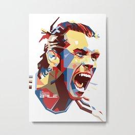 Gareth Bale WPAP 2 Metal Print