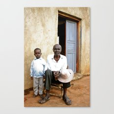 Grandfather and grandson Canvas Print