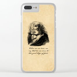King Lear - William Shakespeare Clear iPhone Case