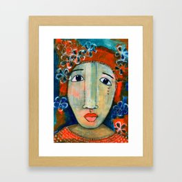Mixed Media - When I think of angels I think of you.. Framed Art Print