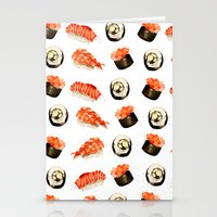 sushi Stationery Cards featuring Sushi by Jenny Viljaniemi