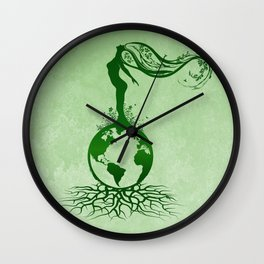 Mother Earth Day - Grunge Green 02 Wall Clock