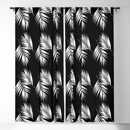 Palm Leaves Pattern #9 #White #Black #decor #art #society6 Blackout Curtain