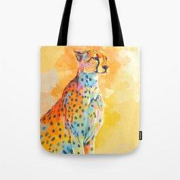 Wild Grace - Cheetah digital painting Tote Bag