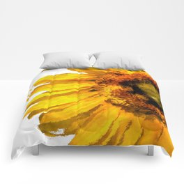 Simply a sunflower Comforters